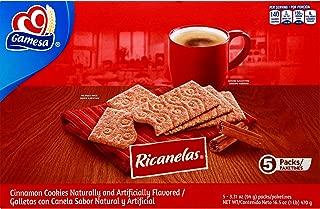Ricanelas Mexican Cinnamon Cookies Galletas 5 pack - 3.31 oz