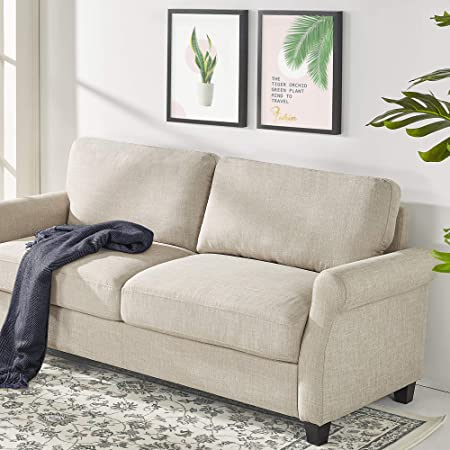ZINUS Josh Loveseat Sofa / Easy, Tool-Free Assembly, Beige