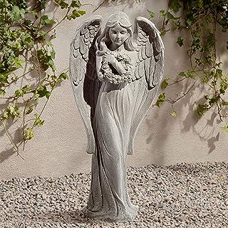 "John Timberland Standing Angel Victorian Outdoor Statue 25"" High Sculpture for Yard Garden Patio Deck Home Entryway Hallway"