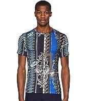 Versace Jeans - Embelisshed Vertical Stripe T-Shirt