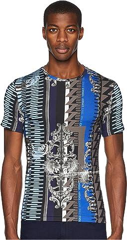 Embelisshed Vertical Stripe T-Shirt