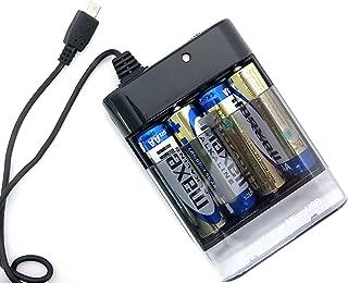 エアージェイ microUSB搭載スマホ専用 モバイルバッテリー単三乾電池式充電器 ブラック BJ-XP1 BJ-XP1