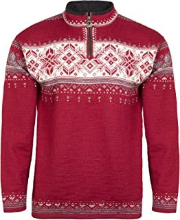 DALE OF NORWAY Men's Blyfjell B-Red Rose/Off-White/Mountainstone/Smoke XX-Large