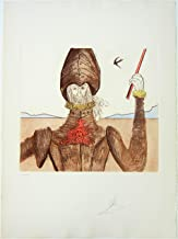 The Dreamer, Pencil Signed Salvador Dali Etching