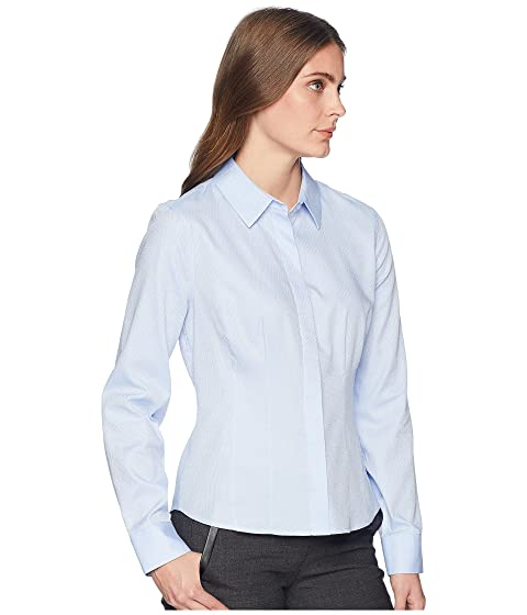 Sleeve Tommy Long Hilfiger Blouse Button 0CqFxCUw