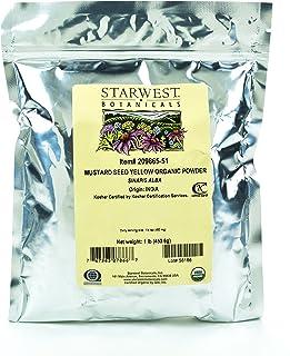 Starwest Botanicals Organic Yellow Mustard Seed Powder, 1 Pound