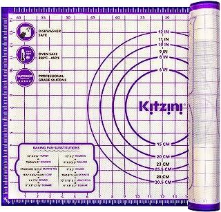 Grand tapis de cuisson en silicone avec mesures - 40,6 x 66 cm - Tapis antidérapant à coller sur le plan de travail pour r...