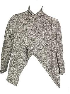 BNCI by Ladies' Wool Blend Cardigan, Black/White, XXL