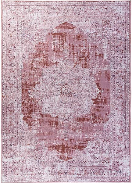 Decomall Traditional Vintage Oriental Distressed Abstract Area Rug For Living Room Bedroom Burgundy 8 X10