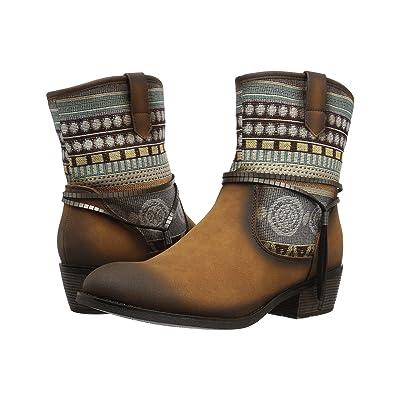 Roper Rios (Tan Faux Leather) Cowboy Boots
