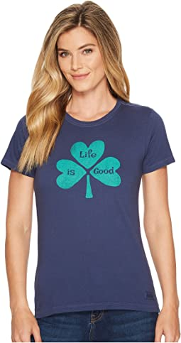 Life is Good - Hearts Clover Crusher Tee