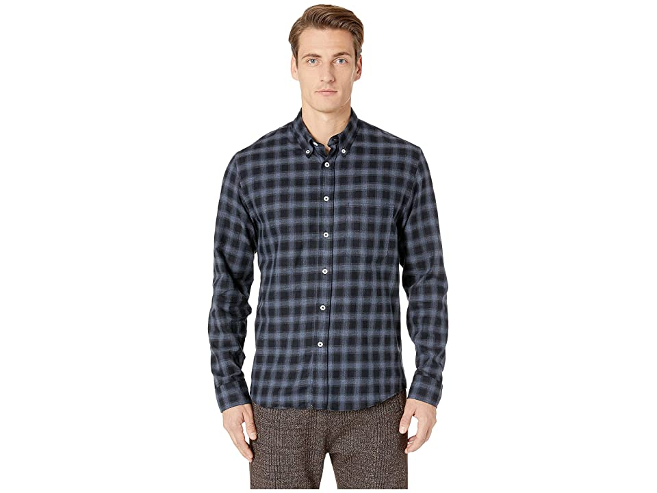 Image of Billy Reid Tuscumbia Button Down Shirt (Navy/Blue) Men's Clothing