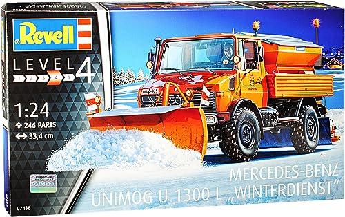 Revell Mercedes-Benz Unimog U1300L Winterdienst 07438 Bausatz Kit 1 24 Modell Auto mit individiuellem Wunschkennzeichen