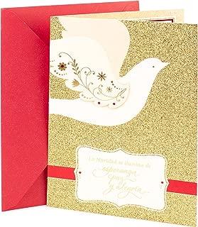 Hallmark Vida Spanish Religious Christmas Card (Dove on Gold)