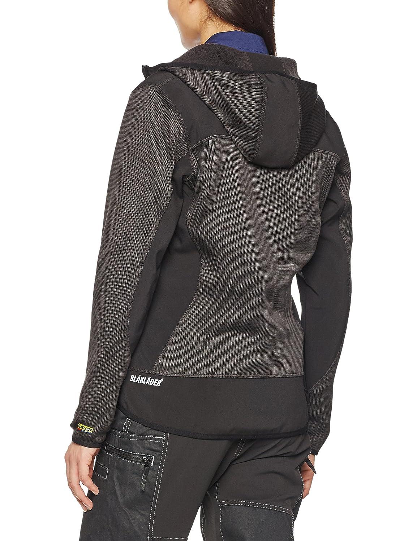 colore Blakl/äder 493021175399/X XXL taglia 3/X L maglia con cappuccio con zip arancione//nero