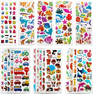 SAVITA 3D Stickers for Kids & Toddlers 500+ Puffy Stickers Variety Pack for Scrapbooking Bullet Journal Including Animal, ...