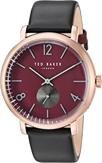 Ted Baker Men's Oliver Stainless Steel Japanese-Quartz Watch with Leather Strap, Black, 0.8 (Model: 10031516)