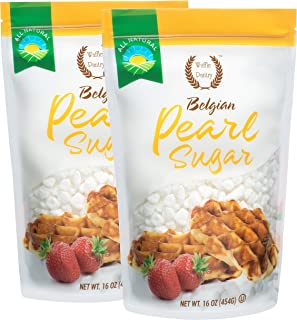 Waffle Pantry Belgian Pearl Sugar, 16 oz (Pack of 2)