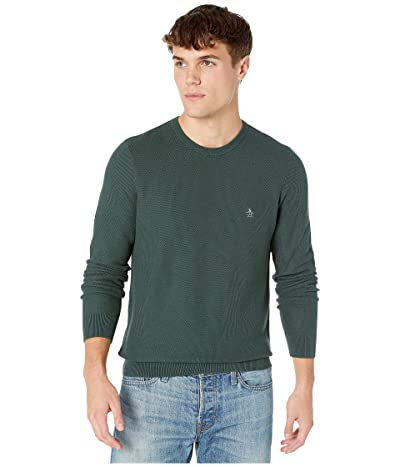 Original Penguin Long Sleeve Crew Neck Sweater (Darkest Spruce) Men