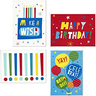 Hallmark Birthday Cards Assortment, Make A Wish (48 Cards with Envelopes)
