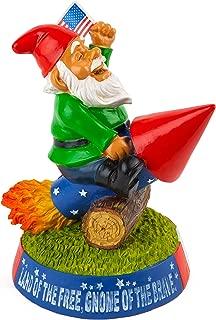 BigMouth Inc Stars n Stripes Garden Gnome, Funny Lawn Gnome Statue, Garden Decoration