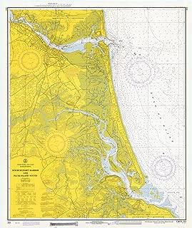 Map - Newburyport Harbor And Plum Island Sound, Massachusetts, 1971 Nautical NOAA Chart - Vintage Wall Art - 44in x 53in