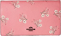 COACH - Floral Bow Fold-Over Crossbody Clutch