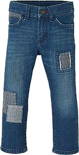 Wrangler Boy's Slim Straight Patch Jeans