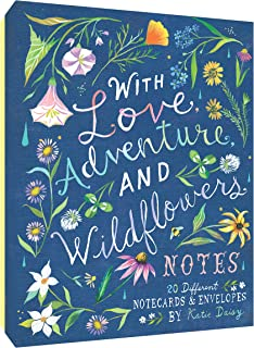 with Love, Adventure, and Wildflowers Notes: 20 Different Notecards & Envelopes (Katie Daisy Art Stationery, Nature Themed...