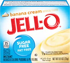 JELL-O Instant Banana Cream Pudding & Pie Filling Mix (0.9 oz Boxes, Pack of 6)