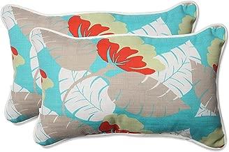 Pillow Perfect Outdoor/Indoor Avia Surf Rectangular Throw Pillow (Set of 2)