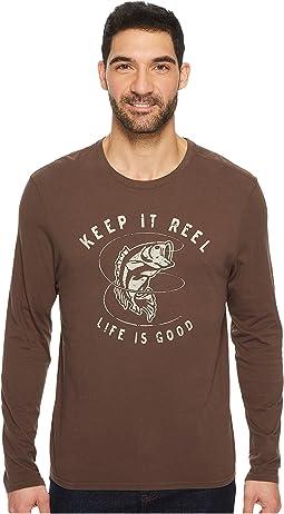 Life is Good - Keep It Reel Bass Long Sleeve Smooth Tee