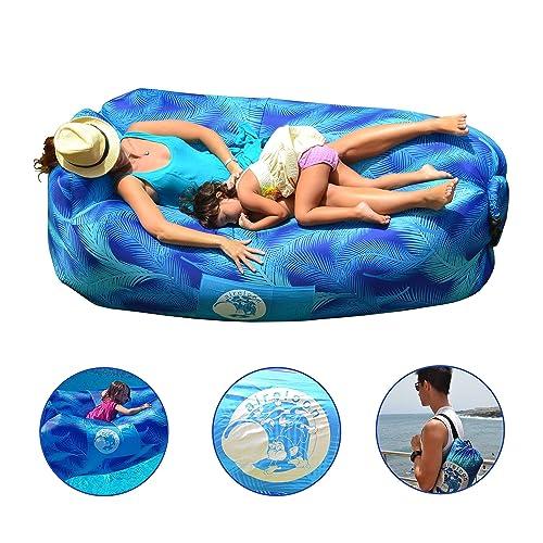 Aireloon Tumbona Inflable con malla interior para sujeción lumbar, sofá hinchable con estacas de fijación