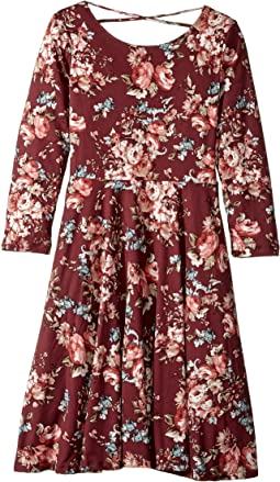 fiveloaves twofish - Floral Skater Dress (Big Kids)