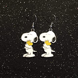 Details about  /Snoopy Pup Earrings