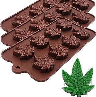 Marijuana Cannabis Hemp Leaf Silicone Molds Candy, 3pk