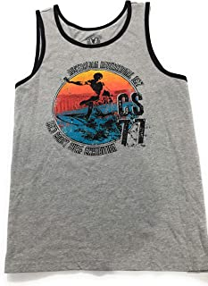 Young Mens Tank XXL Grey Graphic