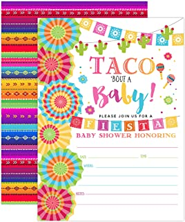 Fiesta Baby Shower Invitation, Taco Baby Shower, Taco Bout A Baby Shower Invite, Fiesta Invitation, 20 Fill in Invitations and Envelopes