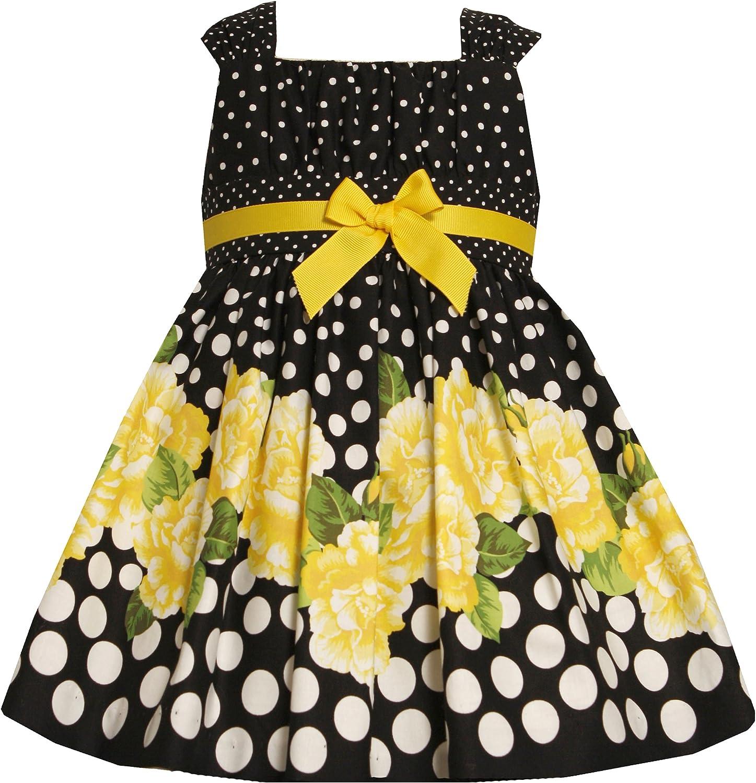 Bonnie Jean Little Girls' Border Print Empire Waist Dress