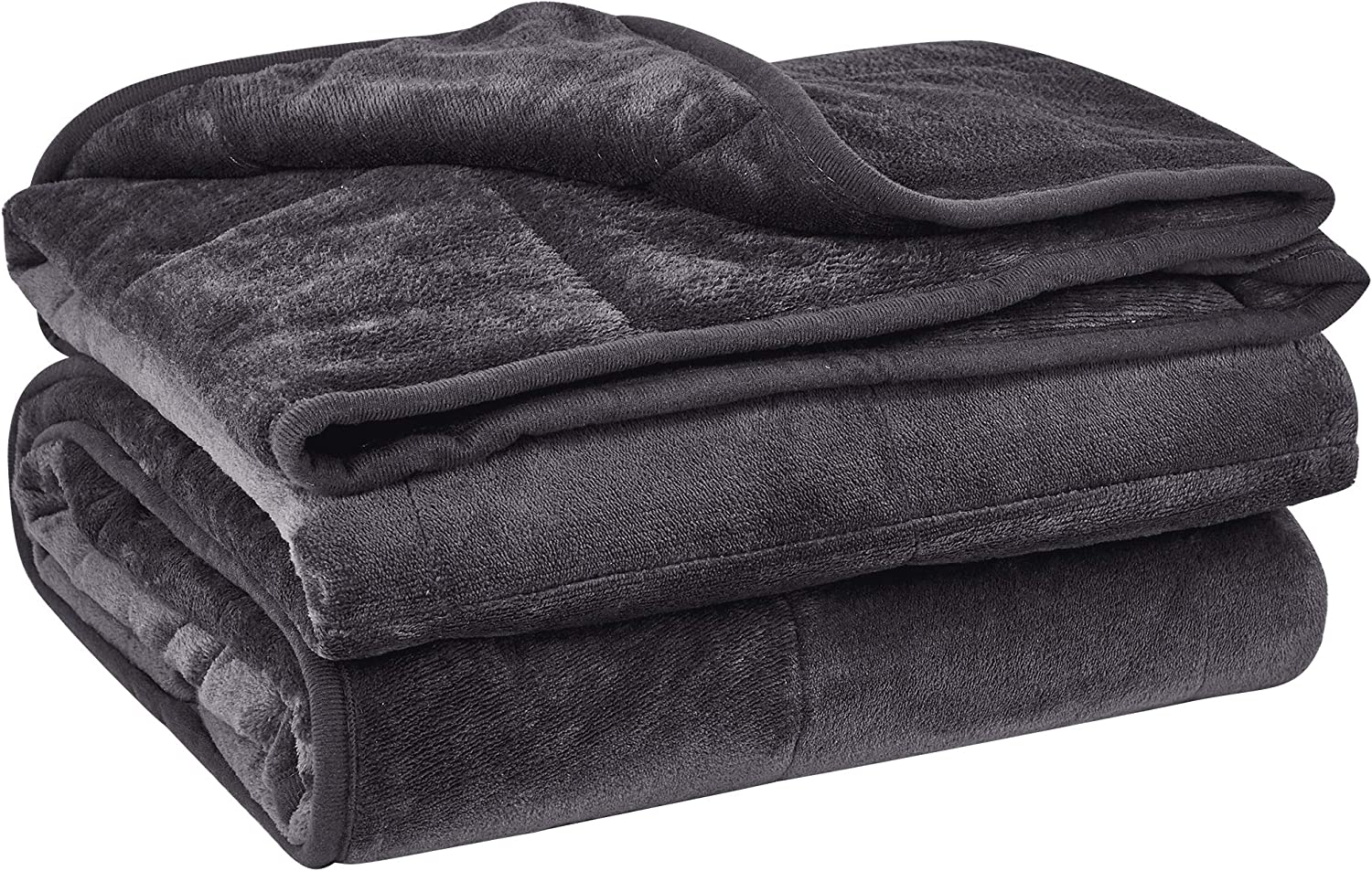 Puredown Cozy and Luxury Weighted Blanket for Adults, Youths Heavy Blanket with Glass Beads Flannel Shell Fabric Deliver Durability and Comfort 25 lbs 60  80  Dark Grey