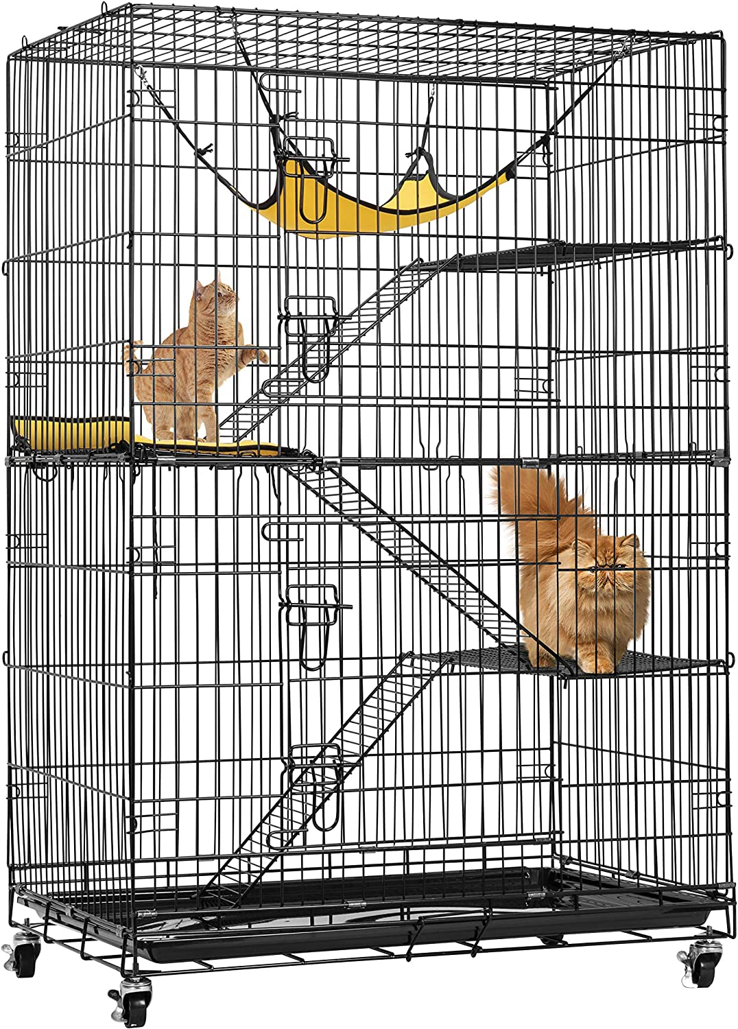 VIVOHOME 4-Tier 49 Inch Collapsible NEW before selling ☆ Ferret Cat National products Kitten Cage Metal