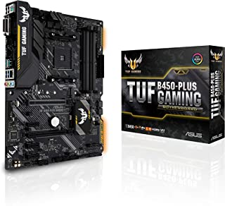 ASUS TUF B450-Plus Gaming Motherboard (ATX) AMD Ryzen 2 AM4 DDR4 HDMI DVI M.2