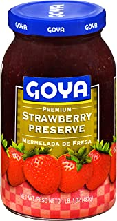 Goya Foods Premium Strawberry Preserve Jelly, 17 Ounce (Pack of 12)