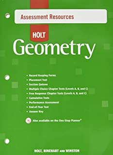 Assessment Resources With Answer Key Geometry 2007