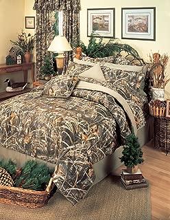 Realtree MAX-4 Camouflage 8 Pc King Comforter Set (Comforter, 1 Flat Sheet, 1 Fitted Sheet, 2 Pillow Cases, 2 Shams, 1 Bedskirt) SAVE BIG ON BUNDLING!
