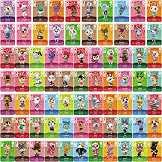 75 Pcs ACNH Compatible with Animal Crossing New Horizons, Series 1-4 Cards NFC Tag Mini Game Rare Character Villager Cards...