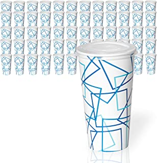 32 Oz Cups With Lids, 50 Sets Paper Cold Cups With Lids