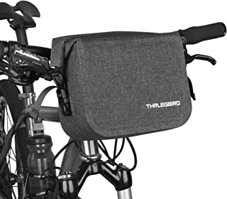 THRLEGBIRD Bike Handlebar Bag, Cycling Handlebar Storage Bag, Bicycle Front Bag, Waterproof Bike Bag, Single-Shoulder Bag for Bike Cycling Touring (Black)