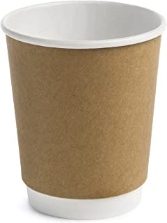 Earth's Natural Alternative Double Wall Kraft Paper Coffee Cup 8 oz, Tan, 50 Count