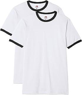 Fruit of the Loom Men's Ringer Premium T-Shirt (Pack of 2)